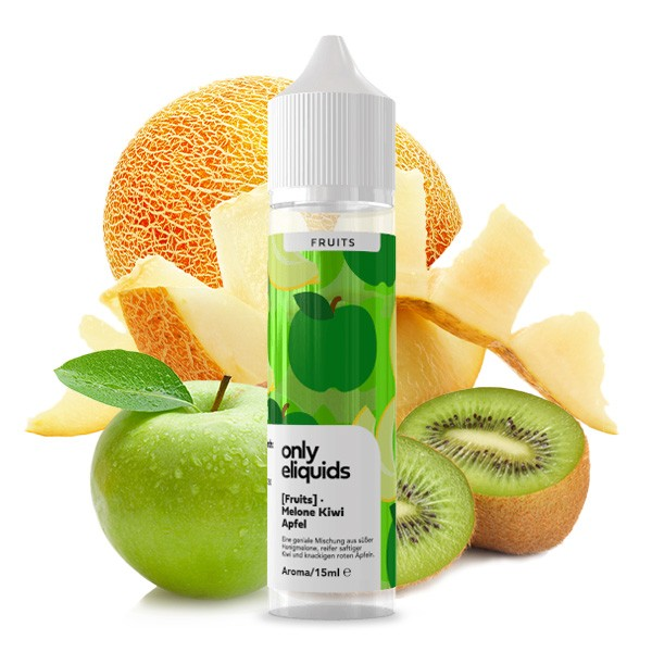 Only Fruits - Aroma Melone Apfel Kiwi - 15ml