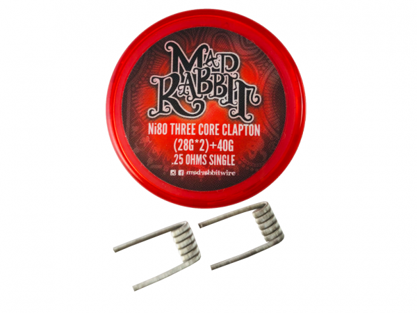 Mad Rabbit - Ni80 Three Core Clapton Coil - 2 Stück