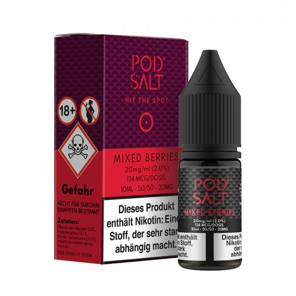 Pod Salt - Nikotinsalz Mixed Berries - 10ml