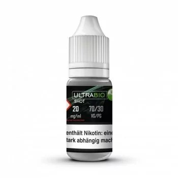 10x10ml UltraBio Nikotinshot 20mg/ml 70VG/30PG