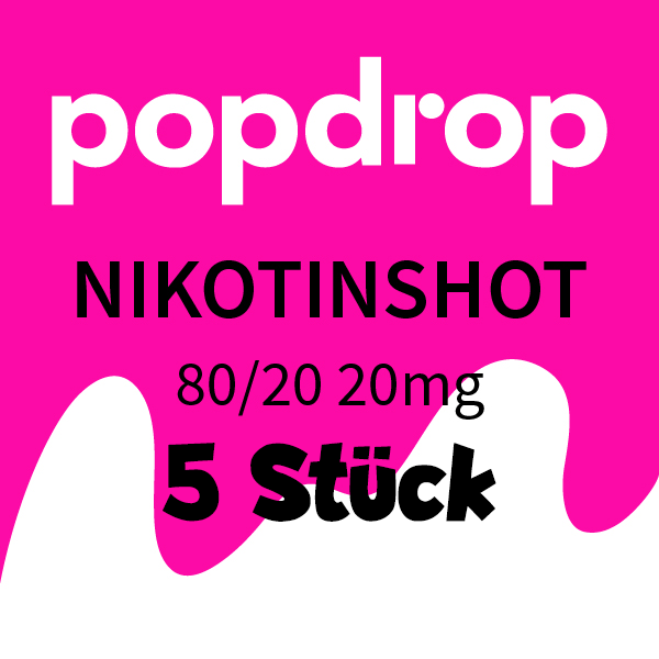 5x10ml Popdrop Nikotinshot 20mg/ml 80/20