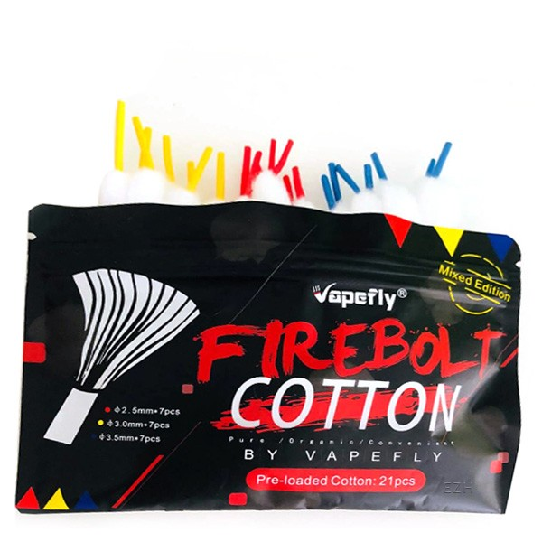 Vapefly Firebolt Mixed Cotton Strands - 21 Stück