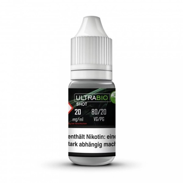10x10ml UltraBio Nikotinshot 20mg/ml 80VG/20PG